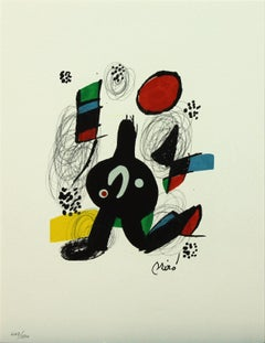 Melodie #7 plate-signed color lithograph from La Mélodie Acide by Joan Miró