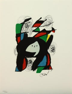 Melodie #8 plate-signed color lithograph from La Mélodie Acide by Joan Miró