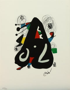 Melodie #9 plate-signed color lithograph from La Mélodie Acide by Joan Miró