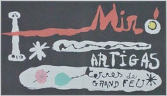 """Miro & Artigas-Sculpture in Ceramic Terres de Grand Feu"" lithograph&screenprint"