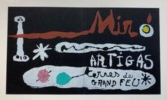 """""""Miro & Artigas - Sculpture in Ceramic Terres de Grand Feu"""" Original Lithograph"""