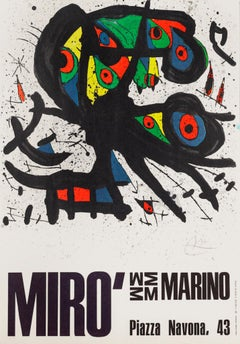 Miró Exhibition Poster - Photo-Offset After Joan Miró - 1971