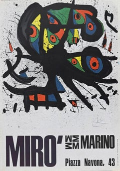 Miró Exhibition Poster - Vintage Offset after Joan Mirò - 1971