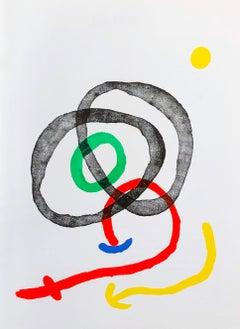 Miró lithograph Derriere Le Miroir 1960s
