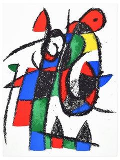 Mirò Lithograph III, plate 2 - Original Lithograph by J. Mirò - 1974