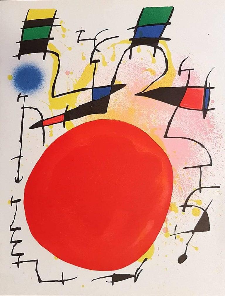 Joan Miró Abstract Print - Mirò Lithographe I - Plate III - 1972
