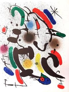 Mirò Lithographe I - Plate VI - Original Lithograph by Joan Mirò - 1972