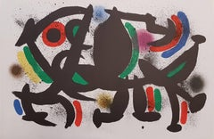 Mirò Lithographe I - Plate VIII - Original Lithograph by J. Mirò - 1972