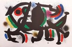 Miró Lithographe I - Plate VIII - Original Lithograph by J. Mirò - 1972