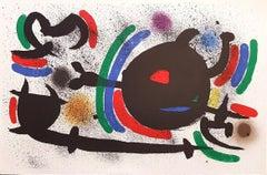 Miró Lithographe I - Plate X - Original Lithograph by J. Mirò - 1972