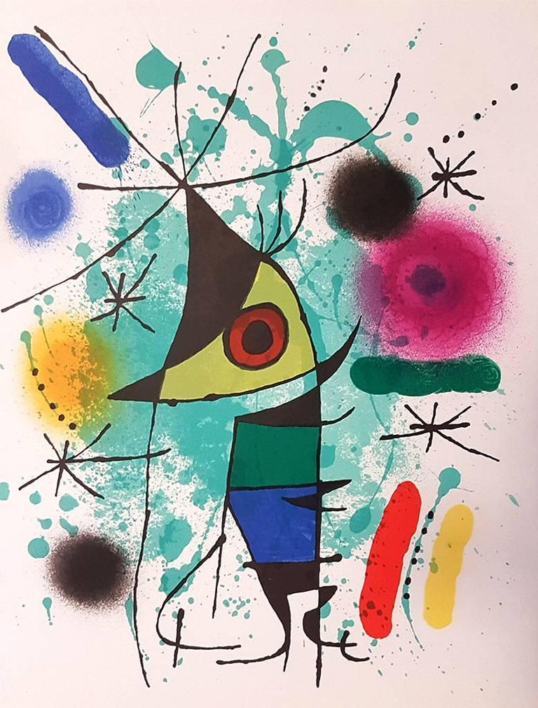 """Original Lithograph. Not signed. Plate XI from the suite of 11 lithographs realized for the catalogue """"Mirò Lithographe I"""" edited by Graphis Arte, Livorno and Toninelli Arte Moderna, Milano, in 1972. Perfect conditions.   Reference: Patrick Cramer,"""