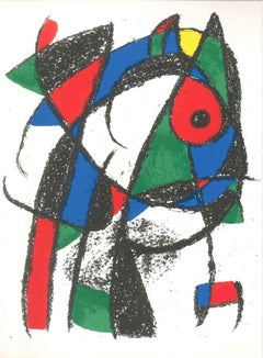 Miró Lithographe II - Plate I - Original Lithograph by J. Mirò - 1975