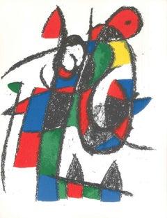 Miró Lithographe II - Plate II - Original Lithograph by J. Mirò - 1975