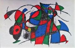 Miró Lithographe II - Plate III - Original Lithograph by J. Mirò - 1975
