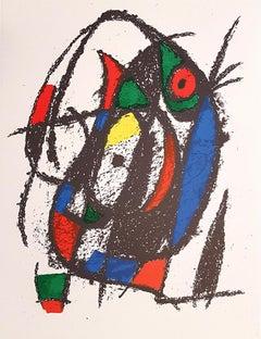 Miró Lithographe II - Plate IV - Original Lithograph by J. Mirò - 1975