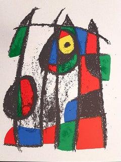 Miró Lithographe II - Plate VII - Original Lithograph by J. Mirò - 1975