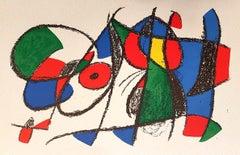 Miró Lithographe II - Plate VIII - Original Lithograph by J. Mirò - 1975