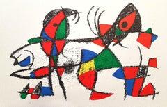 Miró Lithographe II - Plate X - Original Lithograph by J. Mirò - 1975