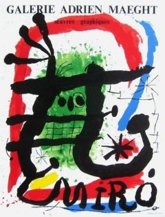 Miro Oeuvres Graphiques, 1965 Galerie Maeght Exhibition Poster