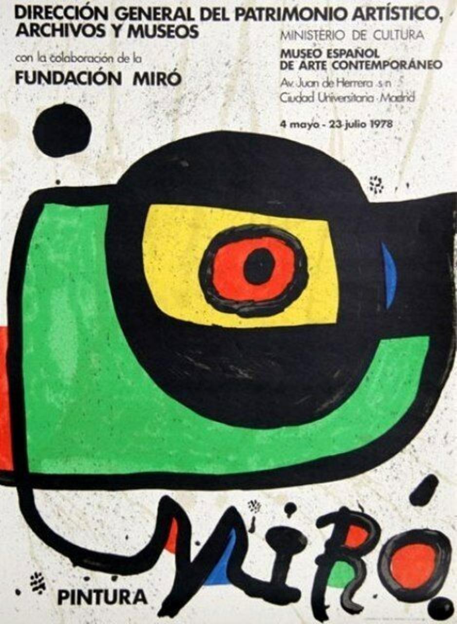 Miro Pintura, 1978 Ministerio de Cultura of Madrid Exhibition Poster