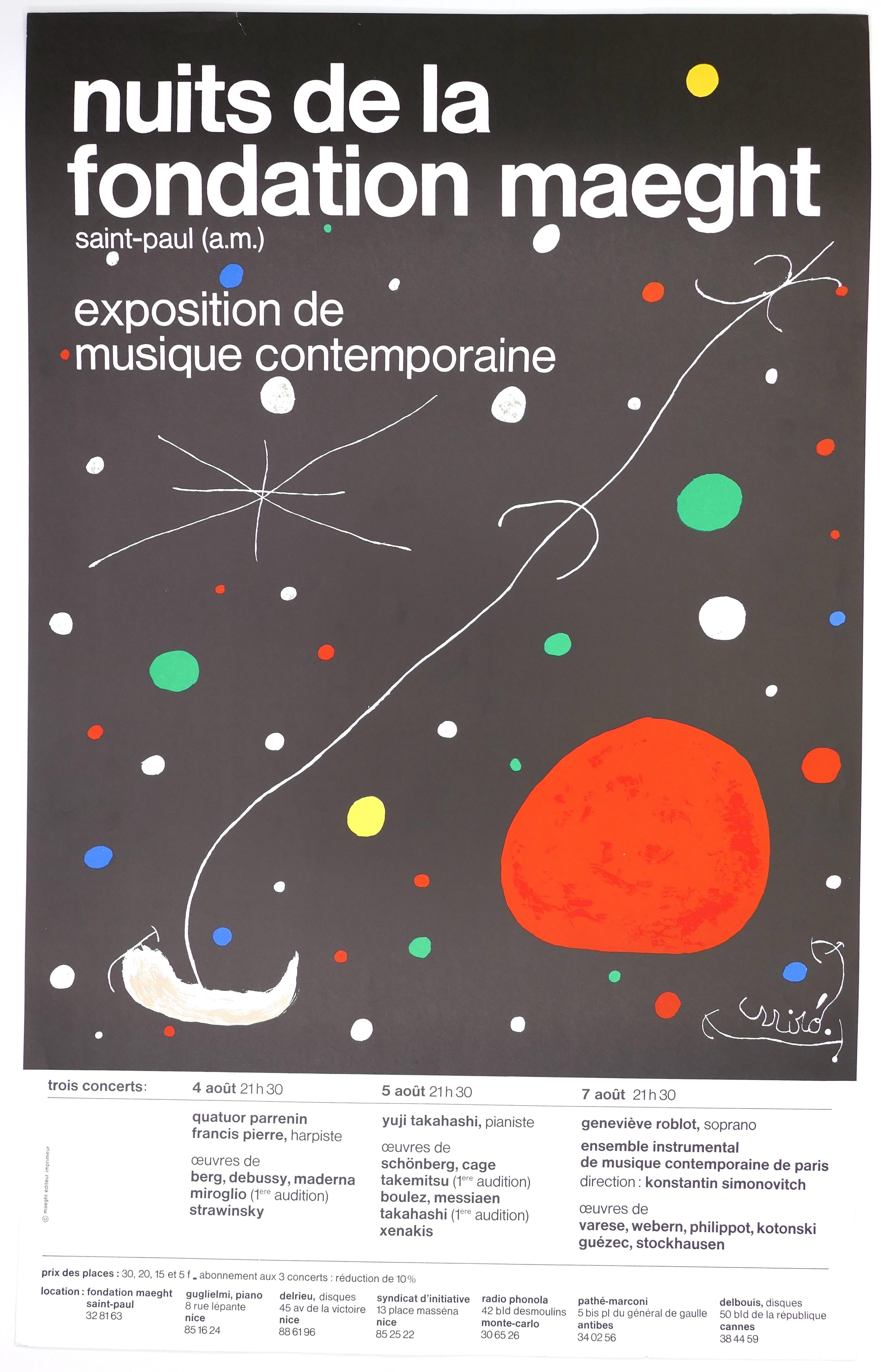 Nuits de la Fondation Maeght - Vintage Poster - 1965