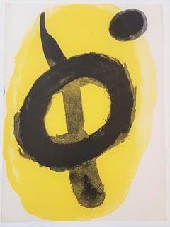 One plate from Derrière le Miroir no. 128: Peintures Murales de Miró