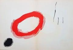 One plate from Derrière le Miroir no 128: Peintures Murales de Miró