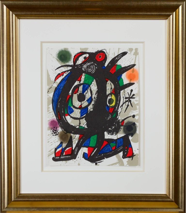 Original Lithograph I, from Miro Lithographs III, Maeght Publisher by Joan Miró For Sale 3