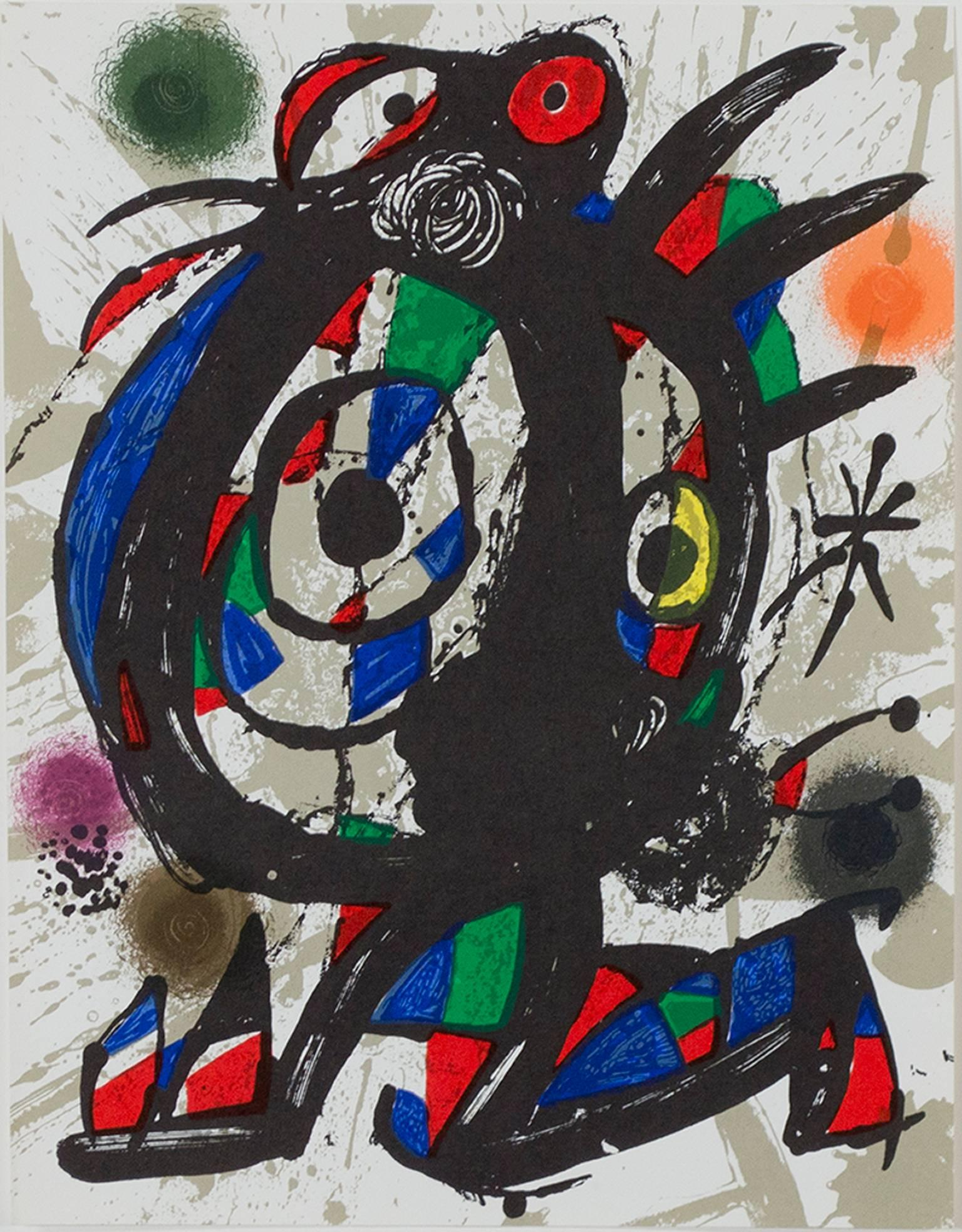 Original Lithograph I, from Miro Lithographs III, Maeght Publisher by Joan Miró