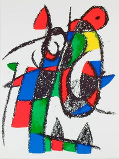 Original Lithograph II, from Miro Lithographs II, Maeght Publisher by Joan Miró