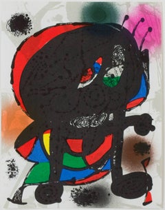 Original Lithograph III from Miro Lithographs III, Maeght Publisher by Joan Miró