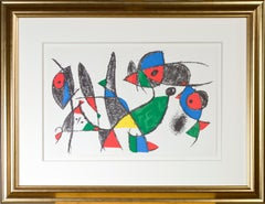 Original Lithograph IX from 'Miro Lithographs II, Maeght Publisher' by Joan Miró