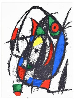 Original Lithograph - Original Lithograph by J. Mirò - 1974