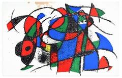Original Lithograph - Original Lithograph by J. Mirò - 1974