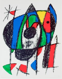 Original Lithograph V, from Miro Lithographs II, Maeght Publisher by Joan Miró