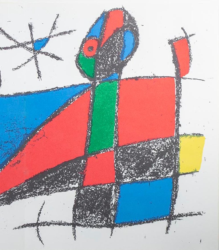 Original Lithograph VI, from Miro Lithographs II, Maeght Publisher by Joan Miró For Sale 2