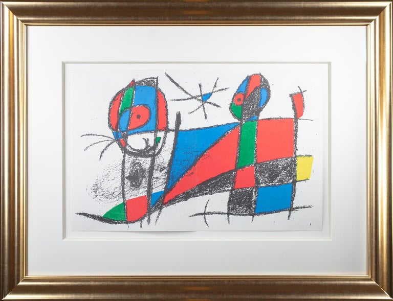 Original Lithograph VI, from Miro Lithographs II, Maeght Publisher by Joan Miró For Sale 3