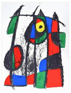 Original Lithograph VII - Original Lithograph by J. Mirò - 1974