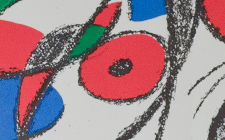 Original Lithograph VIII, from Miro Lithographs II, Maeght Publisher, Joan Miró - Gray Abstract Print by Joan Miró