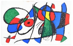 Original Lithograph VIII - Original Lithograph by J. Mirò - 1974