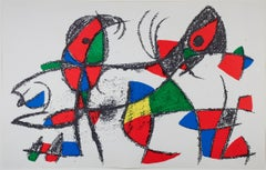 Original Lithograph X, from Miro Lithographs II, Maeght Publisher by Joan Miró