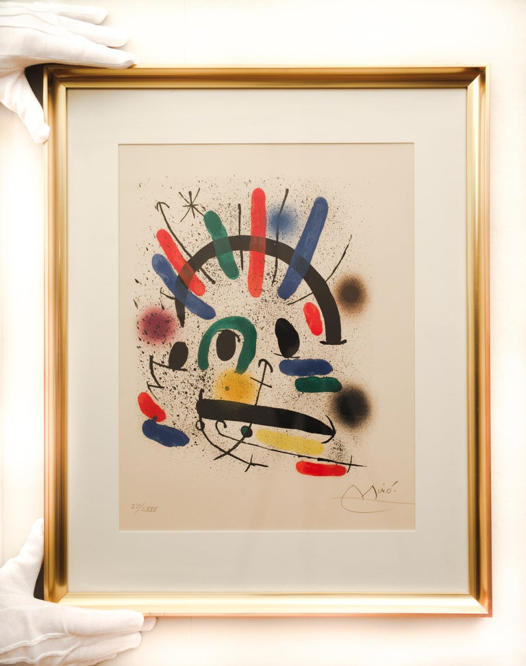 Original Signed Lithograph by Joan Miró, M.858 For Sale 1