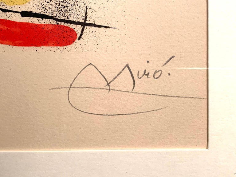 Original Signed Lithograph by Joan Miró, M.858 For Sale 2