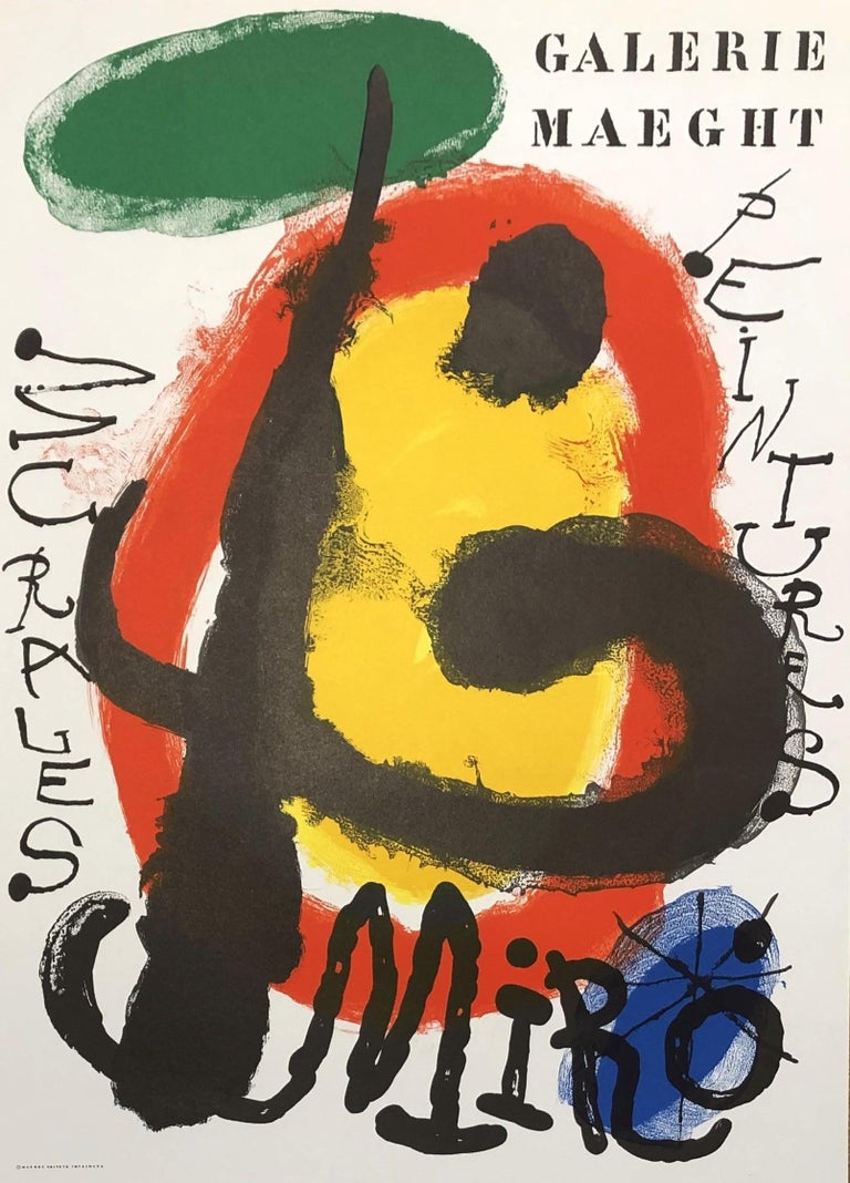 Joan Miró Abstract Print - Peintures Murales - Original Lithograph - Reference M227 - Abstract Composition