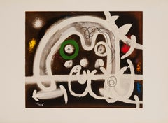 Personnage et Oiseau by Joan Miro (abstract print)