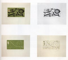 Picasso I Els Reventos - Original set of 4 etchings by Joan Mirò - 1973