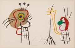 "plate 1019 from the portfolio ""L'Enfance d'UBU"". Original Lithograph. Signed"