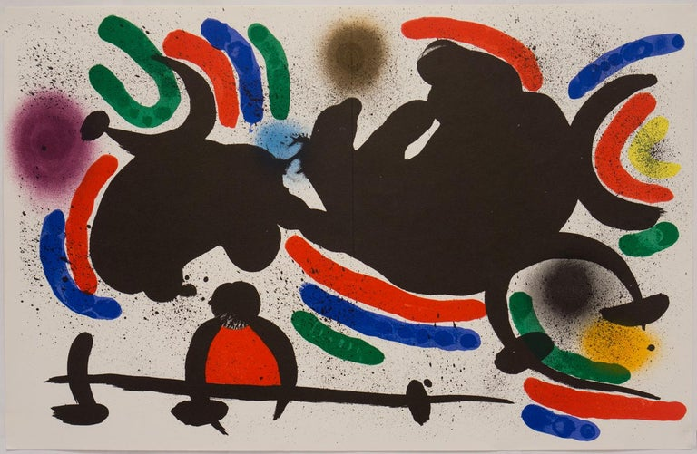 Joan Miró Abstract Print - Plate IV from Lithographe 1