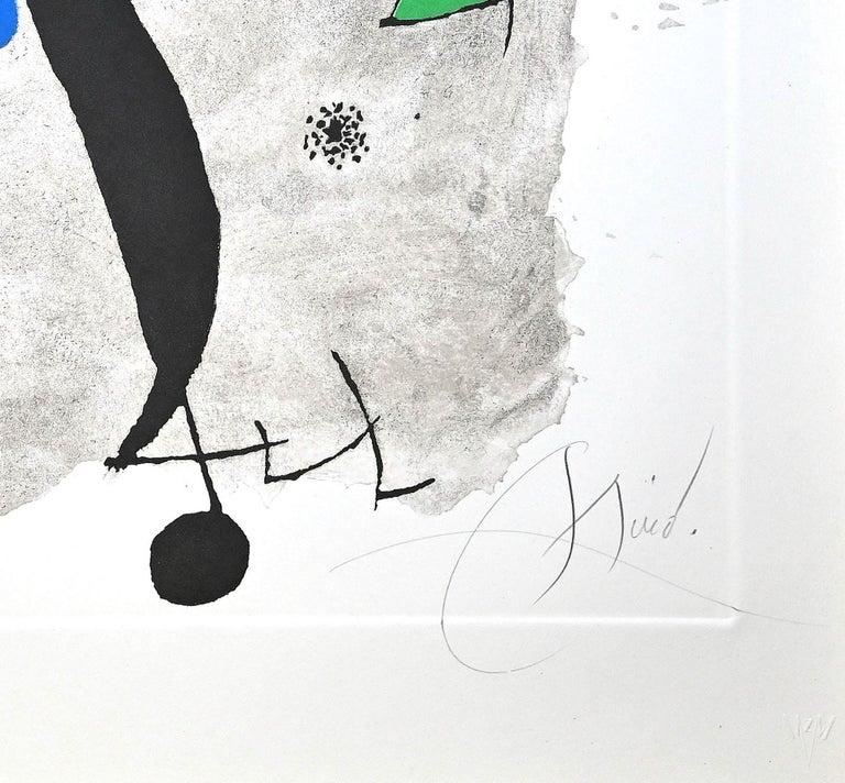 Por Alberti, por L'Espana (Constellation III) - Etching by Joan Mirò - 1975 - Gray Abstract Print by Joan Miró