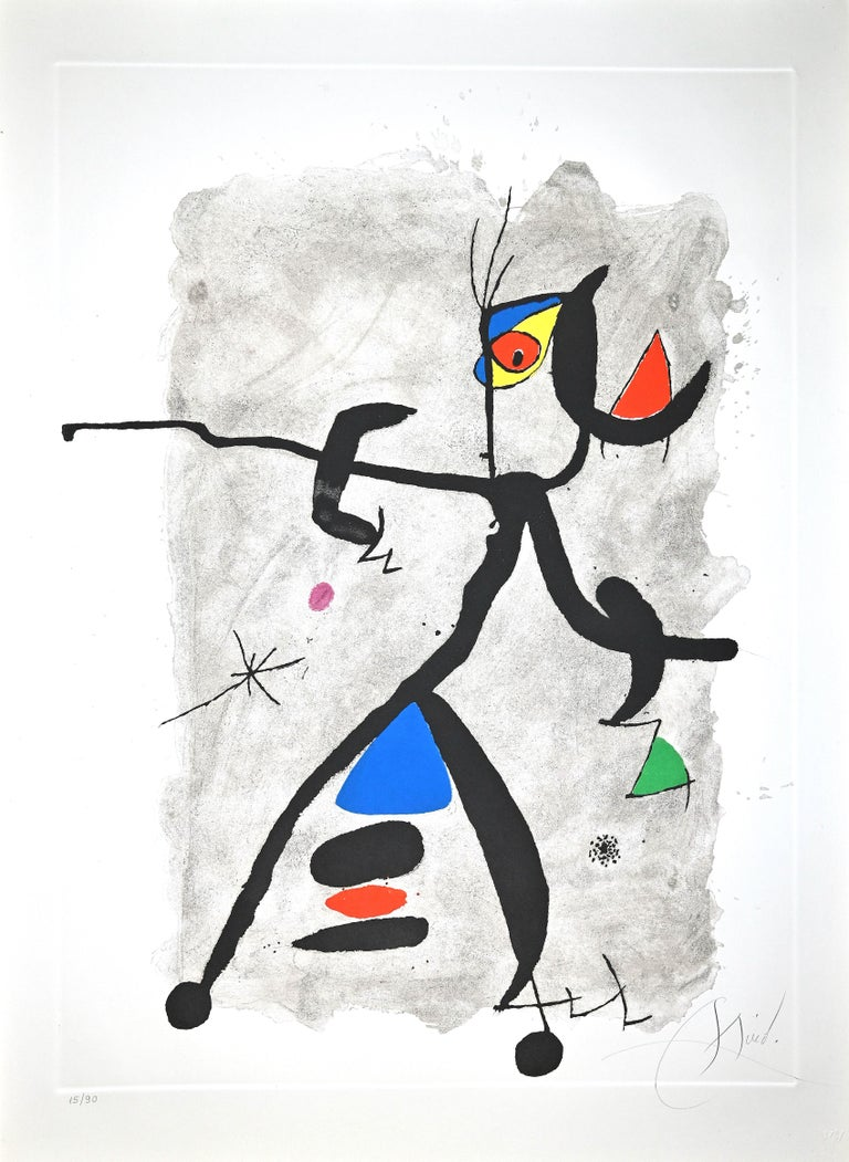 Joan Miró Abstract Print - Por Alberti, por L'Espana (Constellation III) - Etching by Joan Mirò - 1975
